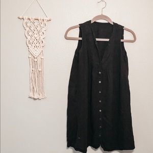 Black Linen Dress Sz S ✨